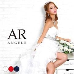 3/1UP【P★10倍】[AngelR]ハートカットギャザーティアードフリルテールカットロングドレス[AR8336][送料無料]