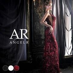 3/1UP【P★10倍】[AngelR]サイドシアースパンコールレースタイトロングドレス[AR8809][送料無料]