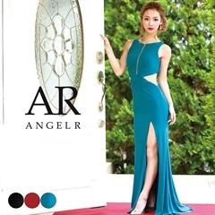 3/6UP【P★10倍】[AngelR]サイドシアーデザインカットタイトロングドレス[AR8243][送料無料]