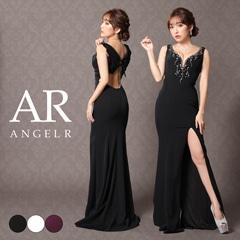 【P 10倍】[AngelR]デコルテビジューバックデザインタイトロングドレス[AR9205][送料無料]
