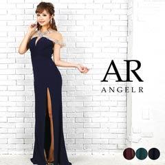 3/29UP【P★10倍】[AngelR]デコルテxスリーブシースルータイトロングドレス[AR9701][送料無料]
