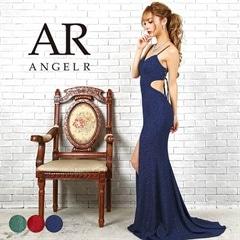 3/11UP【P★10倍】[AngelR]ローズ柄ウエストデザインカットタイトロングドレス[AR9306][送料無料]