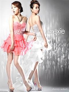 [drexie]ティアードフリル2WAYテールカットロングドレス
