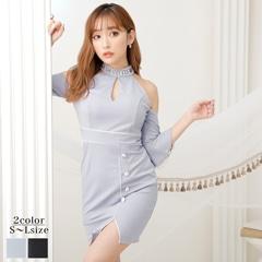 【応援ドレス】[SMLサイズ]上品ワンカラータイトミニドレス[3サイズ展開]