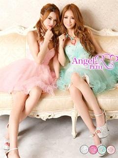 【P★10倍】[Angel R]パステルカラー×ハートカップベアエアリーフレアミニドレス[PT-117][送料無料]