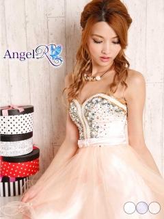 【P★10倍】[AngelR]手縫いビジュー装飾ベアフレアミニドレス[AR5610][送料無料]