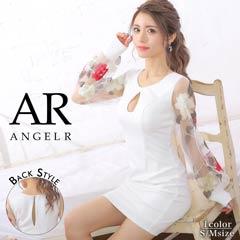 一条響着用【P★10倍】[AngelR]フラワーフレアスリーブタイトミニドレス[AR20801][送料無料]