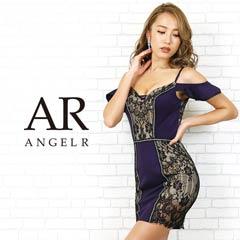3/27UP[AngelR]オープンショルダーフリルスリーブタイトミニドレス[AR20202]