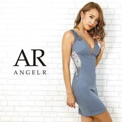 【P★10倍】[AngelR]サイドシアーフラワーレースデザインタイトミニドレス[AR20302][送料無料]