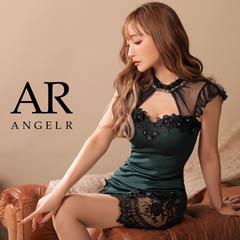 [AngelR]ブラックメッシュスリーブタイトミニドレスタイトミニドレス[AR20204]
