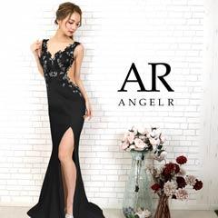 [AngelR]フラワーレースサイドシアータイトロングドレス[AR20809]