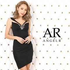 [AngelR]フロントビジューシアーデザインタイトミニドレス[AR20312][送料無料]