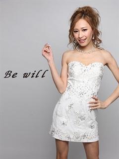 [Be will]レースビジュー付ベアタイトミニドレス[D-4890][送料無料]