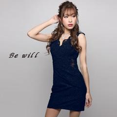 [Be will]ウエストシースルービジュータイトミニドレス[D-4963]