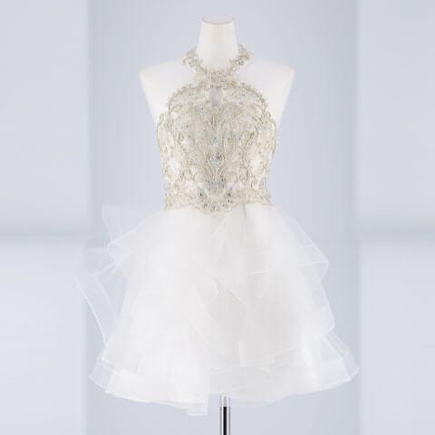 [Lipline]アメスリカットアウトAラインミニドレス[B-0549](ホワイト-S)