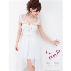 [an]刺繍レースオフショルインナーミニタイトドレス[AOC-2108][送料無料]