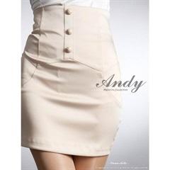[Andy]ハイウエストフロントボタンタイトミニスカート単品[AN-SK015B]