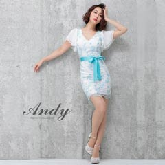 [Andy]フレアスリーブウエストリボンタイトミニスカート単品[AN-OK1943][送料無料]