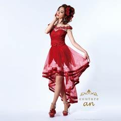 [couture an]オフショルテールカットタイトミニドレス[AOC-2048][送料無料]