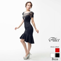 【P★10倍】[Alice][SMLサイズ]総レースマーメイドタイトドレス[3サイズ展開][52663][送料無料]
