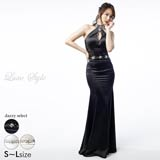 【P★10倍】[LuxeStyle]スパンコールレースマーメイドロングドレス[51706][送料無料]