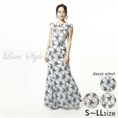 【P 10倍】[LuxeStyle]マーメンドラインロングドレス[51816][送料無料]