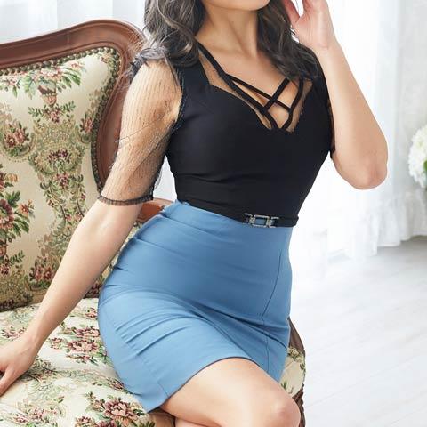 [Alice]バストクロスバイカラータイトミニドレス[52325](ブルー-Sサイズ)