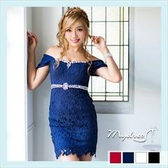 総レースオフショルセクシータイトミニドレス[my dress]