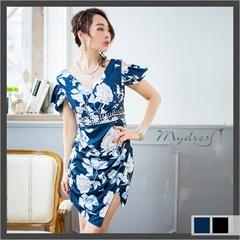 セクシースリット袖つきタイトミニドレス[my dress]