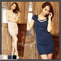 シンプルタイトミニドレス[my dress]