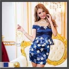 バックリボン付き♡オフショルペプラムタイトミニドレス[my dress]