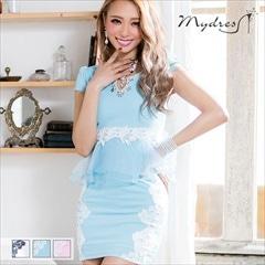 ペプラムレースタイトミニドレス[my dress]