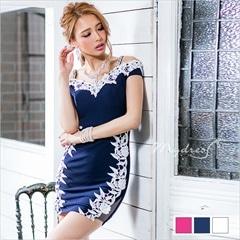肩紐付きオフショルタイトミニドレス[my dress]