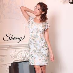 【Sherry】[SMLサイズ]フラワープリントタイトミニドレス [3サイズ展開][52622]