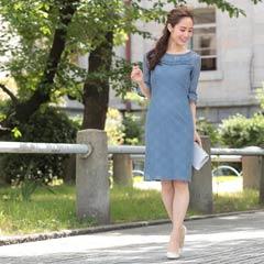 11/23UP[SMLサイズ]アンブレラレーススリーブタイト膝丈ドレス[3サイズ展開]