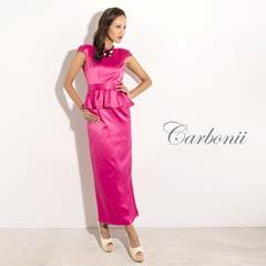 7/19UP[carbonii]背中見せバックリボンペプラムロングドレス[CA901-587]