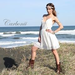 【50%OFF】[carbonii]ホワイトキャミソールAラインミニドレス[CA504-615]