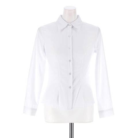 [S~LLサイズ]シンプル長袖ワイシャツ[4サイズ展開](長袖-S)