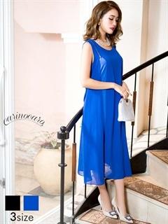 [SM~MLサイズ]ファスナーデザイン付きAラインルーズひざ下丈ドレス[3サイズ展開]