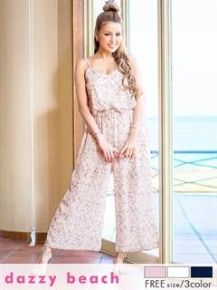 花柄キャミワイドパンツドレス【dazzybeach】