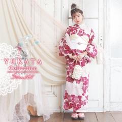 大判牡丹柄浴衣3点セット[2019年新作/YUKATA by dazzy]