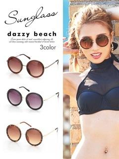 [2種類]サークルレンズサングラス【dazzy beach】