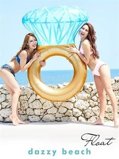 ダイヤモンドリング型フロート/浮き輪【dazzy beach】