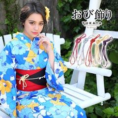 6/10UP[単品]フラワーパールストーン飾り紐【2019年新作/YUKATA by dazzy】