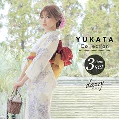 [3点SET] 夏草と蛍浴衣 【2020年新作/YUKATA by dazzy】