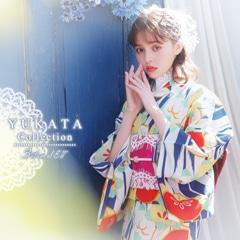 LARMEモデル加藤ナナ着用[3点SET] レトロポップフラワー浴衣 【2021年新作/YUKATA by dazzy】
