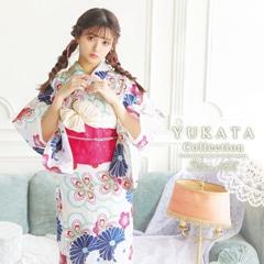 [3点SET] クリーム×フラワー浴衣 【2021年新作/YUKATA by dazzy】