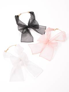 Ribbon sheer choker
