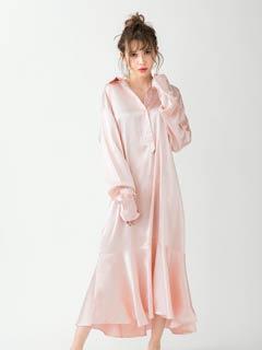 [CARRIEFRANCA]マーメイドサテンルームドレス