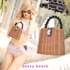 [2way]バイカラーミニストローバッグ【dazzy beach/2020夏小物】